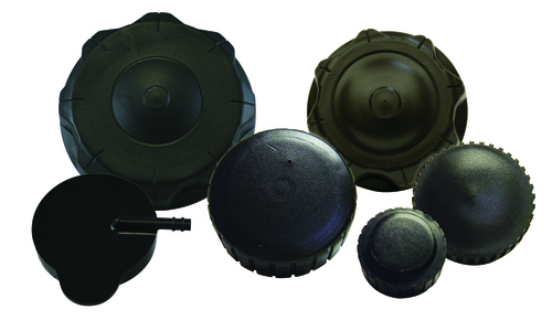 Injection molded caps