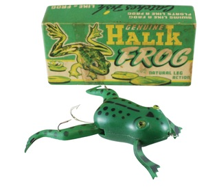 Genuine Halik Frog with Natural Leg Action bait and original box