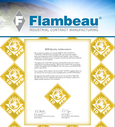 Flambeau 10PPM PACCAR Quality Award